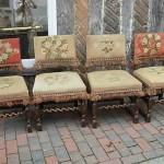 Set of Four Authentic Jacobean Dining Chairs