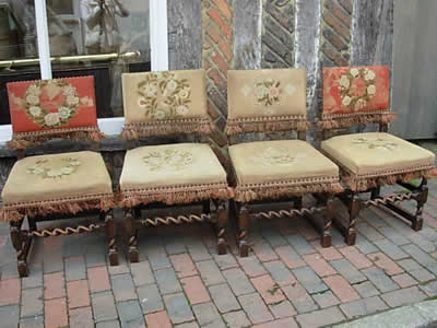 - Antique Jacobean Dining Chairs