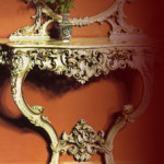 Louis XV table with tasteless ornament