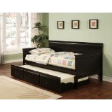 Traditional Style Black Daybed with Trundle