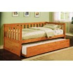 Wooden Stickley-style Daybed with Trundle