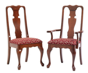 Pair of Queen Anne Dining Chairs