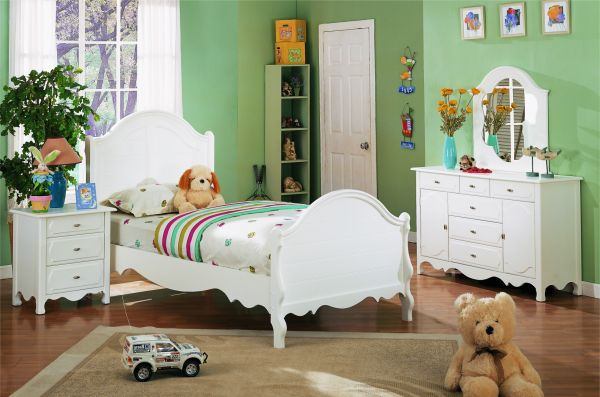painted white the twin bed is ideal for a variety of decors and perfect for the