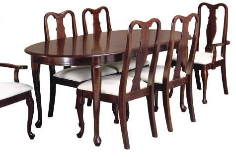 Queen anne dining room furniture home furniture for Dining room chairs queen anne