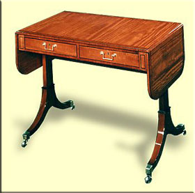 Delicate style of the Sheraton gaming table