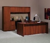 sleek used home office furniture including desk and cabinet