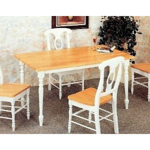 Country Butcher Block Kitchen Table And Chairs