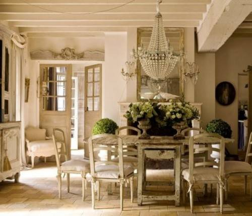 How to decorate in french country style for Vintage style dining room ideas
